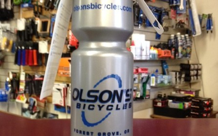 Olson's Bicycles water bottles now available  $9.99